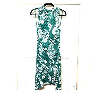 Green Polkadot Strapless Dress with POCKETS!